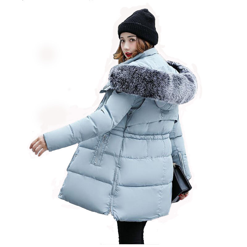 Women Winter Jacket 2017 New Jacket Women Thick Fur Hooded Long Down Cotton Padded Female Coat Parka Woman XXXL pregnant women of han edition easy to film a word long woman with thick cotton padded clothes coat quilted jacket down jacket