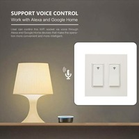 ype 1/2/3 Gang AC 100 240V Smart WIFI LED Light Switch Wall Panel Mobile APP Remote Control for Alexa
