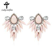 New Ethnic Flower Bohemian Long Drop Earrings Fashion Jewelry Statement Earrings Big Hanging Luxury Vintage Earrings For Women