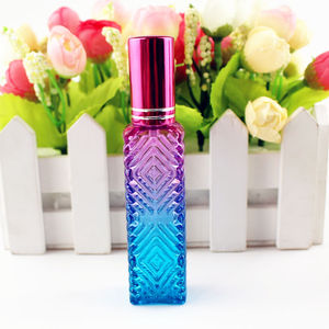 Image 3 - 15ml Colorful Square Glass Perfume Bottle Thick Mini Fragrance Cosmetic Packaging Spray Bottle Refillable Glass Vials