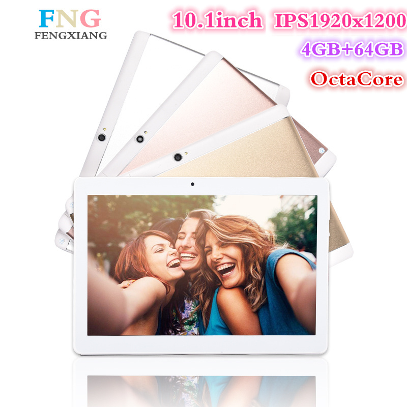10.1 pouce 3G/4G LTE tablet pc Android 7.0 Octa base 4 GB + 64 GB 1920*1200 IPS Smart comprimés pcs Double SIM WIFI FM Bluetooth Comprimés