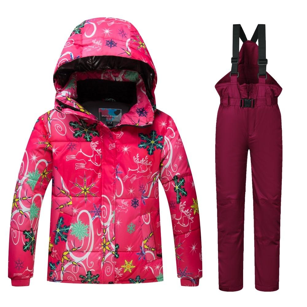 Combinaison de Ski enfants nouvelle haute qualité enfants coupe-vent imperméable coloré filles et garçon neige robe hiver Snowboard veste et pantalon