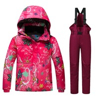 Ski Suit Kids New High Quality Children Windproof Waterproof Colorful Girls And Boy Snow Dress Winter Snowboard Jacket And Pants