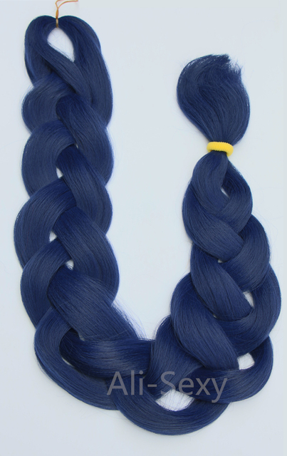 1pcs Lot Premium Xpression Ultra 82 150g Blue Braid Hair 100 Kanekalon