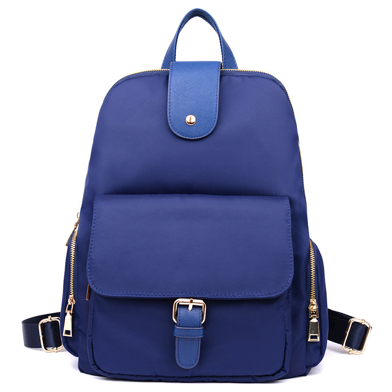 Fabra Hot Fashion Waterproof Nylon Women Backpacks Black Solid Back Pack Korean Preppy Style Hasp School