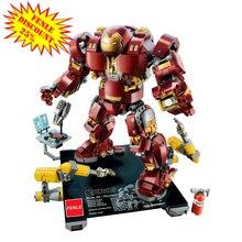 スーパーヒーロー10833無限大戦争hulkbusteresと互換性76105の建設レンガのおもちゃ子供07101