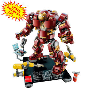 Iron Man Hulkbuster Legoings 76105 Marvel Ironman Avengers Super Heroes Model Building Blocks Boys Birthday Gifts Children Toys