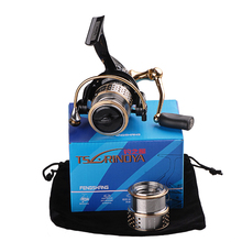 Trulinoya Saltwater Fishing Reels 9BB/5.2:1 Aluminium Spinning Reel One Free Spare Metal Spool 2000 Series Fishing Tackle Feeder