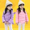 3-7 años Niñas Abrigo de Invierno Cálido Niños niñas chaqueta de Invierno ropa de Niños ropa de Algodón Acolchado Con Capucha Parkas chica prendas de vestir exteriores