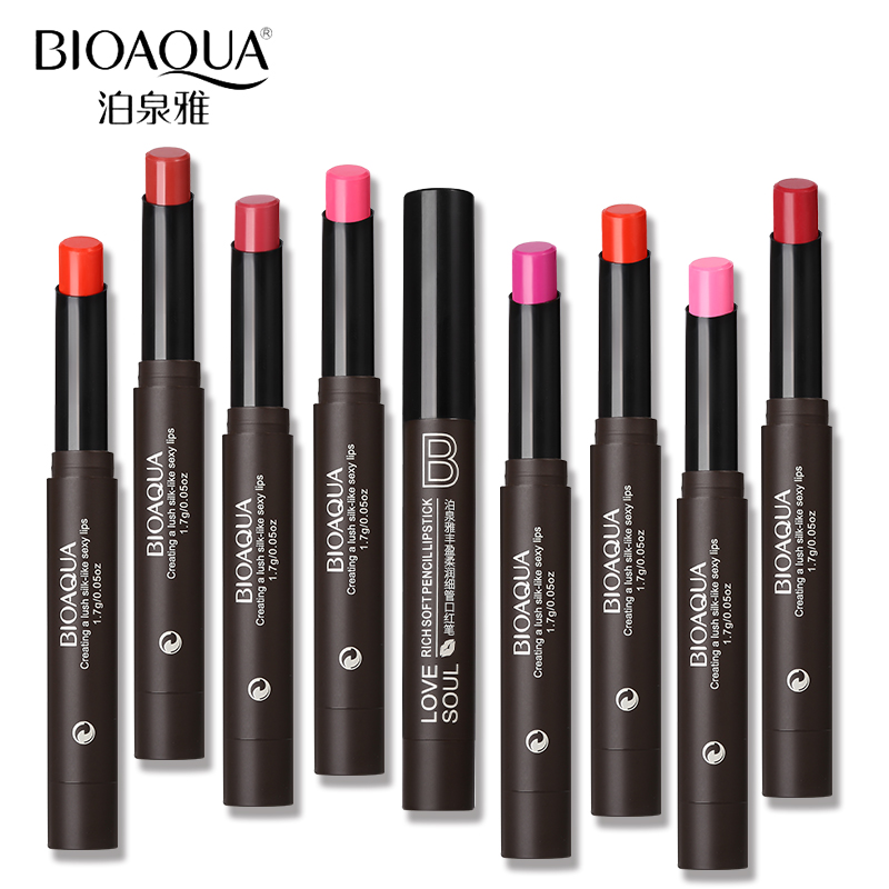 BIOAQUA Brand Moisturizer Lipstick Pencil Makeup Nutritious Balm Pigment Lips Stick Gloss Make Up Nude Cosmetics Pen image