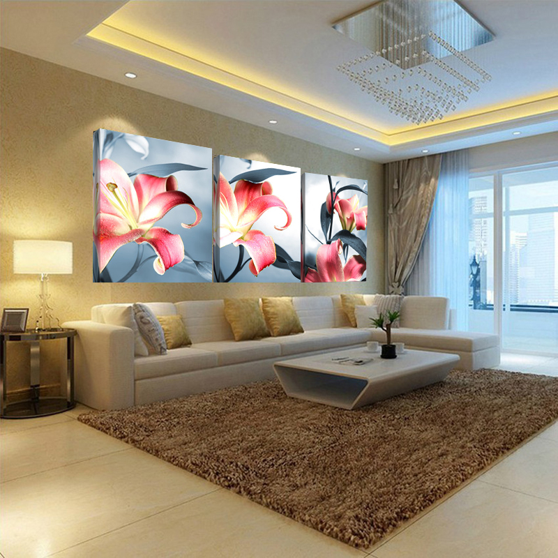 Canvas painting three picture home decor combination painting wall pictures living room wedding - Home decorators discount code paint ...