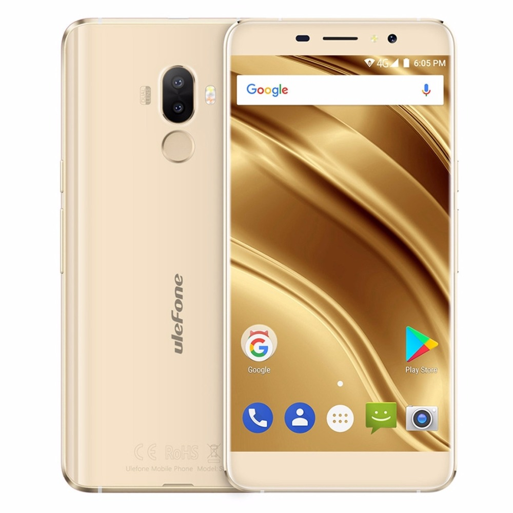 Ulefone S8 pro Dual Rear Cameras 13MP+5MP+5MP Android 7.0 MT6737 Quad Core 2GB RAM 16GB ROM 3000mAh Fingerprint Smart phone OTG