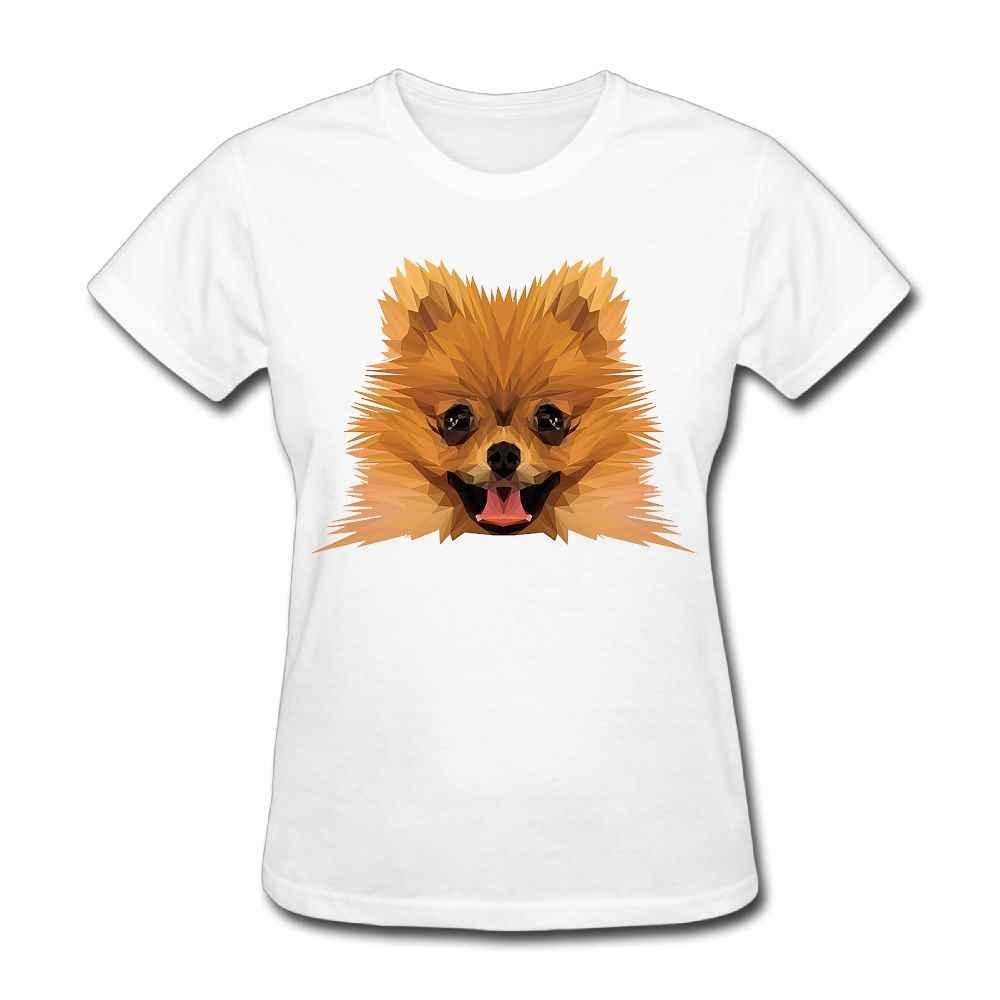 a499a5a7 ... SAMCUSTOM Cute Pomeranian T-shirts for Women Harajuku Funny Product Tops  Lady Casual Short Sleeve ...