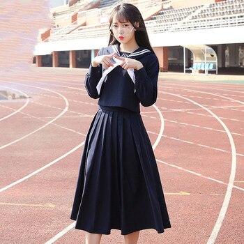 06bc734c1 Otoño japonés marinero traje uniformes estudiantes coreanos clase desgaste  trajes vestido japonés uniformes femenina viento colegio