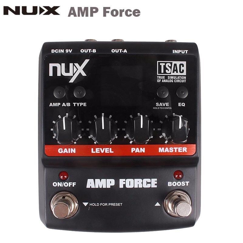 nux amp force guitar modeling amplifier simulator electric guitar effect pedal 12 models screen. Black Bedroom Furniture Sets. Home Design Ideas
