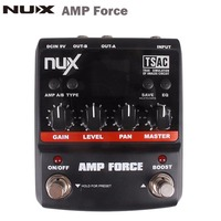 NUX AMP Force Guitar Modeling Amplifier Simulator Electric Guitar Effect Pedal 12 Models Screen Guitar Parts