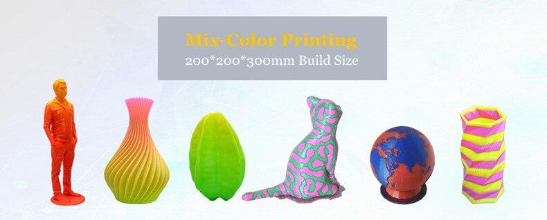 Nova Cor Mix Impressão FDM-Única Máquina Extrusora de Impressora 3D