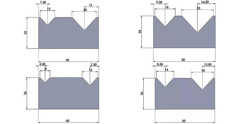 wc67k press brake 2v down tooling mold die sale to australia  full list 42crmo 2v down tooling for wc67k hydraulic press brake