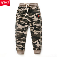 IYEAL New Camouflage Pants For Kids Boys Cotton Causal Straight Children Camo Long Pants Kids Trousers for Boy 4 10 Years