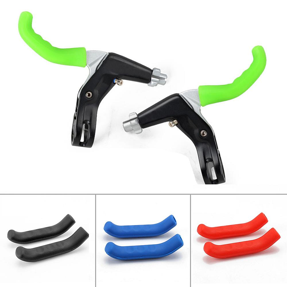 2pcs//Set Silicone MTB Mountain Bike Brake Lever Skin Grip Cover Protector Tools