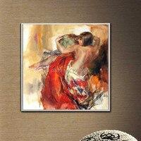 Обнаженная ручная роспись сексуальные голые девочки китайский сексуальная девушка ню женщин Картина Маслом Горячие Танцы Девушка оригина