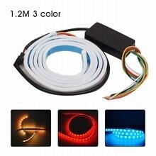 MALUOKASA 120 см тормозной фонарь автомобиль-Стайлинг RGB Светодиодные ленты световой сигнал задний багажник фонарь фонарик для багажнике автомобиля брюки-карго 3 цвета