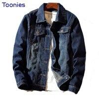 Fashion Stylish Popular Men S Denim Jacket Slim Jeans Single Breasted Pockets Male S Denim Outerwear