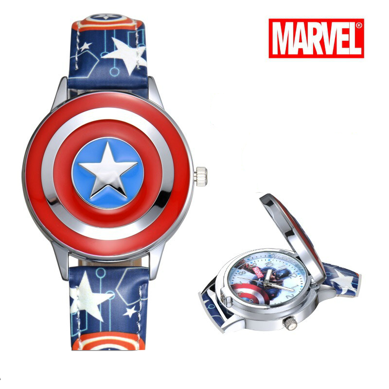 MARVEL Watch Avenger Alliance Animation Cartoon Boys Children Students Captain's Watches