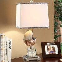 Tuda livraison gratuite lampe de Table en cristal lampe de Table en forme de conque pour chambre Simple lampe de chevet européenne