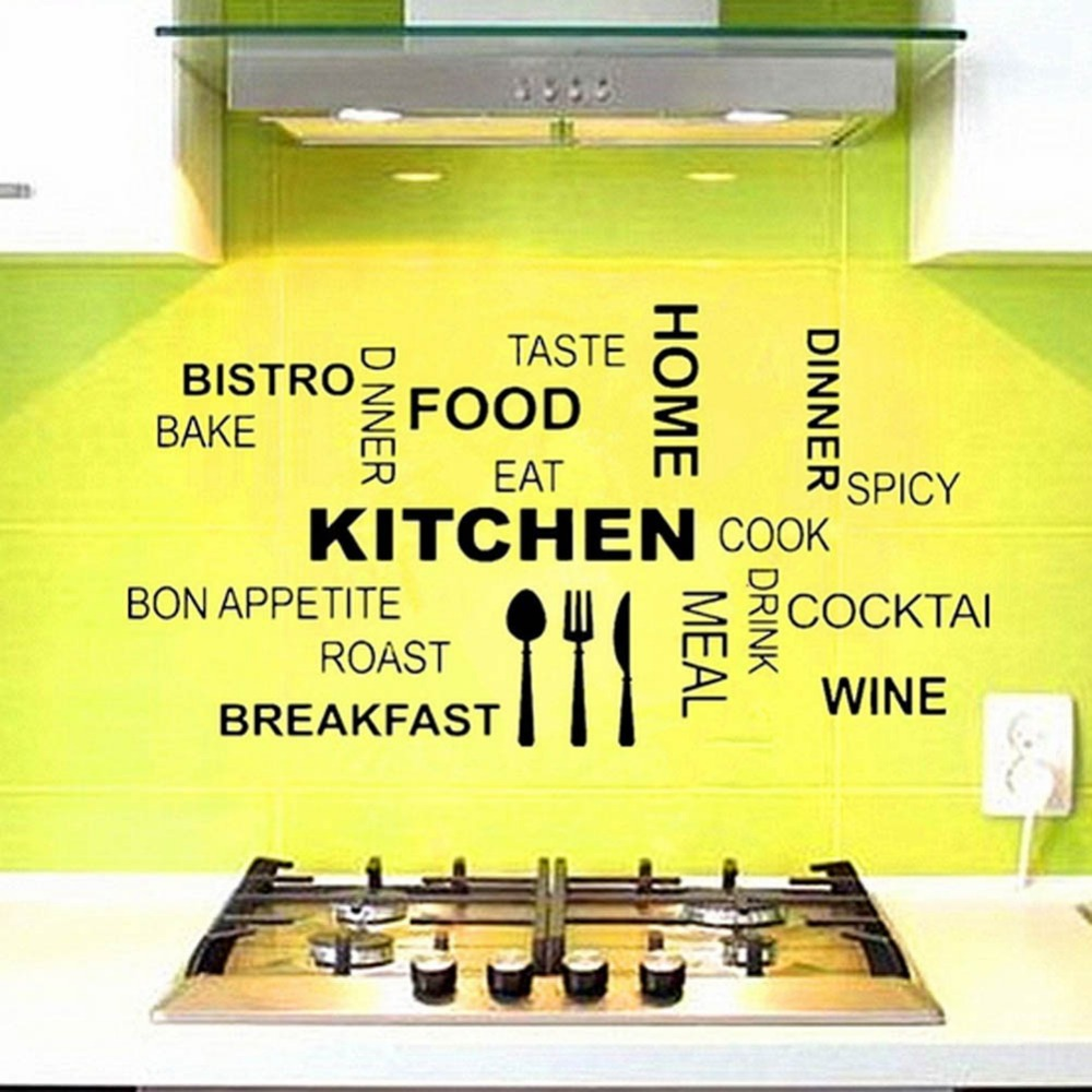 Fashion Characters Words Stickers Kitchen Wall Stickers Home ...