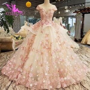 Image 2 - AIJINGYU טורקיה כלה שמלת שמלות הודי Sheer Robe אמא של הכלה במסיבה שני באחד שמלת כלה קטנה שמלות