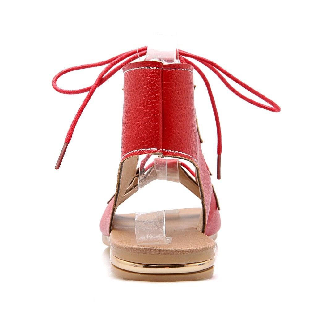 Sandales Mode Chaude Vente Gladiateur 43 Taille D'été 2016 Nouvelles Couleurs De Grande Plat 3 red Femmes black Sexy Haute Solide 34 Beige Qualité npwT4WWY7q