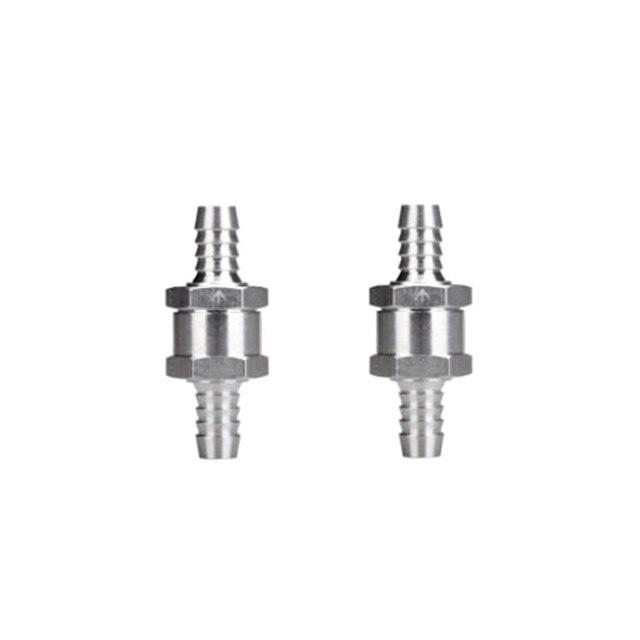 2 Pcs 8 millimetri In Lega di Alluminio di Carburante Valvola di Non Ritorno One Way Fit Carburatore/Sistema Del Carburante A Bassa Pressione per Roulotte/CAMPER/Barca