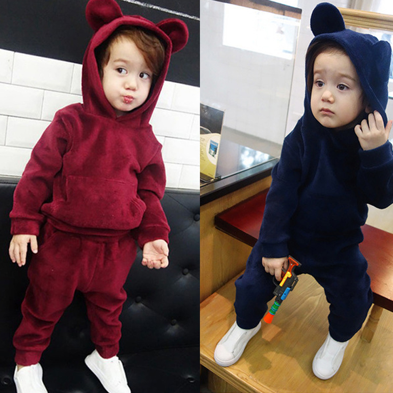 KEAIYOUHUO Children Clothing Boys Sets 2018 Winter Kids Clothes Baby Boy Girl Clothes Sets Long Sleeve Cotton Girls Sport Suits keaiyouhuo 2017 autumn boys girls clothes sets batman sport suit children clothing girls sets costume for kids baby boy clothes page 8