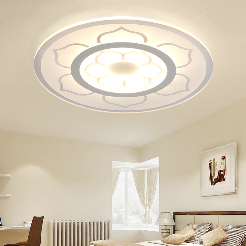 New Ultra Thin Modern LED Ceiling Lights For Living Room Round Circular  Acrylic Ceiling Lamps Modern Home Flush Mount