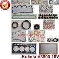 Полный ремонт  капитальный ремонт  полный комплект прокладок двигателя Kubota: V3800 16V