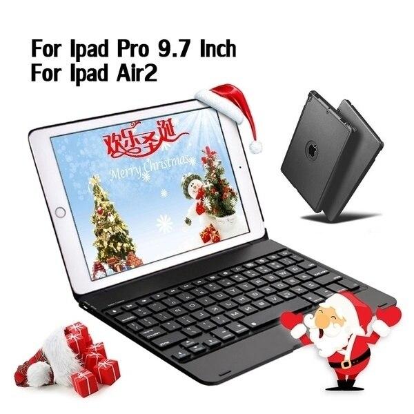 Weihnachten geschenk Ultra-dünne Drahtlose Externe Bluetooth Tastatur Für Ipad Air2/Pro 9,7-zoll Notebook Flip Bluetooth tastatur