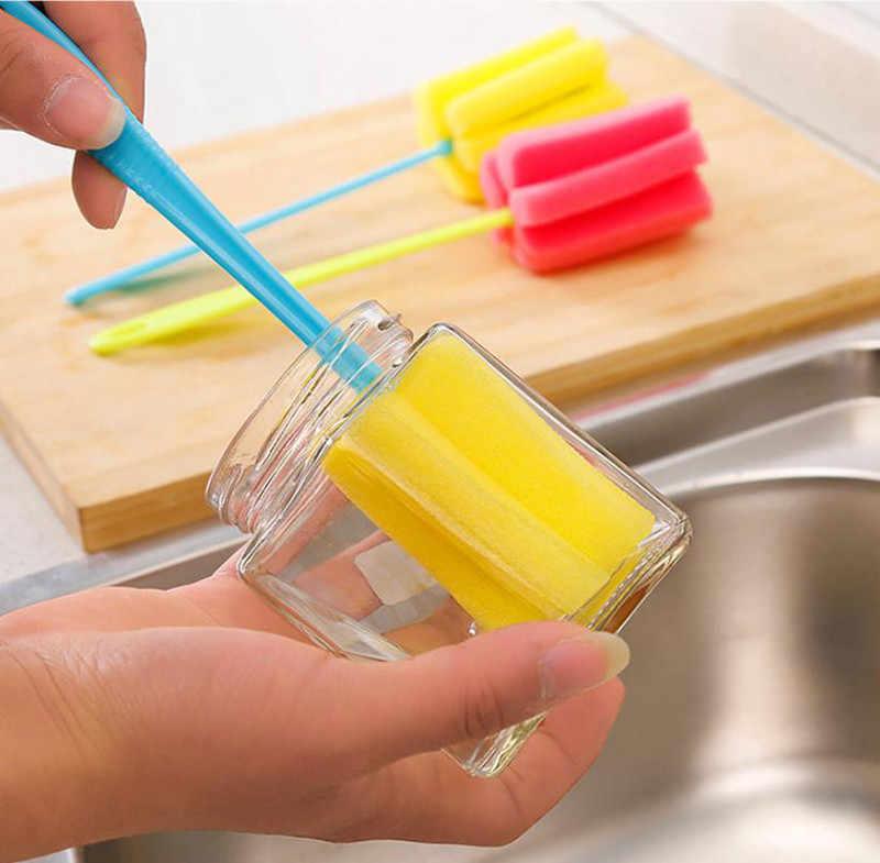 1 PC de la cocina herramienta de limpieza esponja cepillo de copa de vino de la botella de café té taza de vidrio