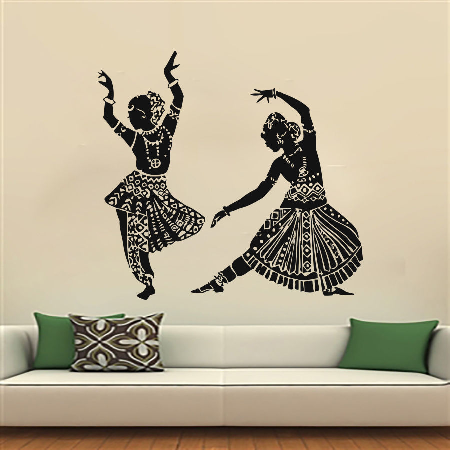 Music Dance Wall Decal Studio Show Sexy Girl Dancing Mural Art Wall Sticker  Dance Room Dance Wall Sticker Bedroom Decoration In Wall Stickers From Home  ...