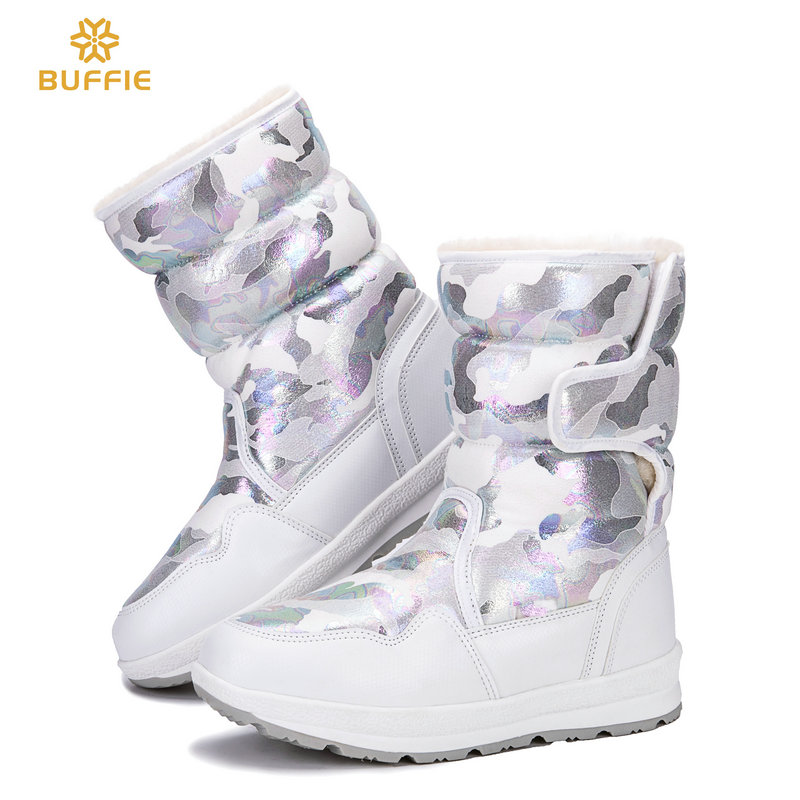 boots women shoes female winter snow boot white pink blue black beige camouflage big size new style fashion design free shipping
