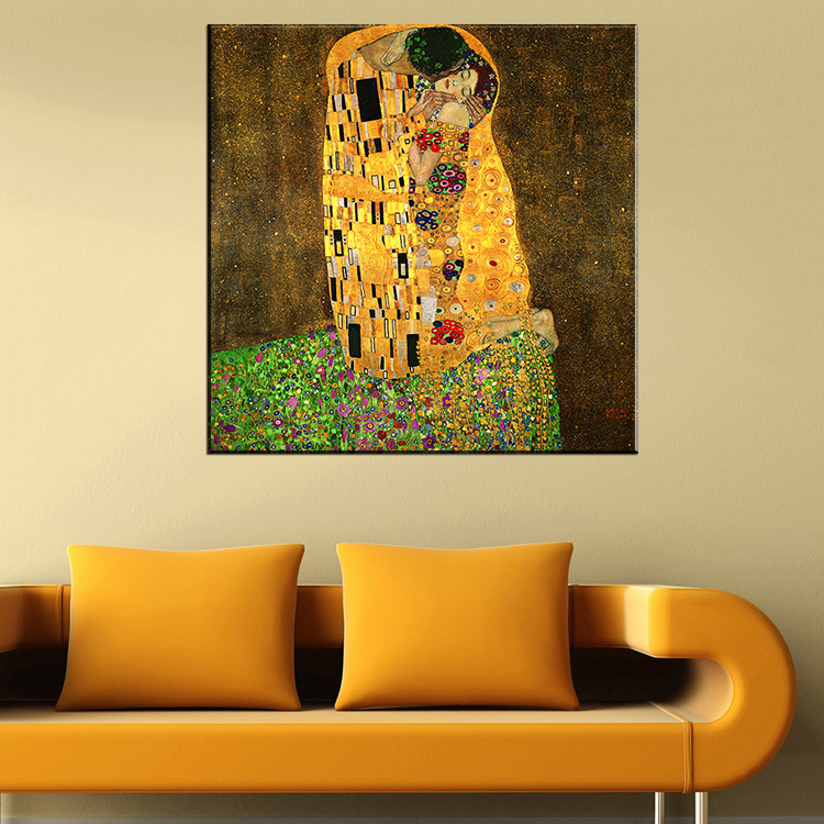 Original famous Paint The Kiss by Gustav Klimt wall painting for ...