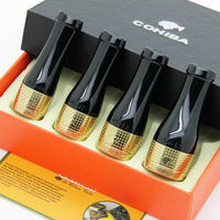 COHIBA Golss Gold Pure Copper Resin Cigar Pipe Holder Nozzle 4 Sizes (42 57 Ring Gauge)