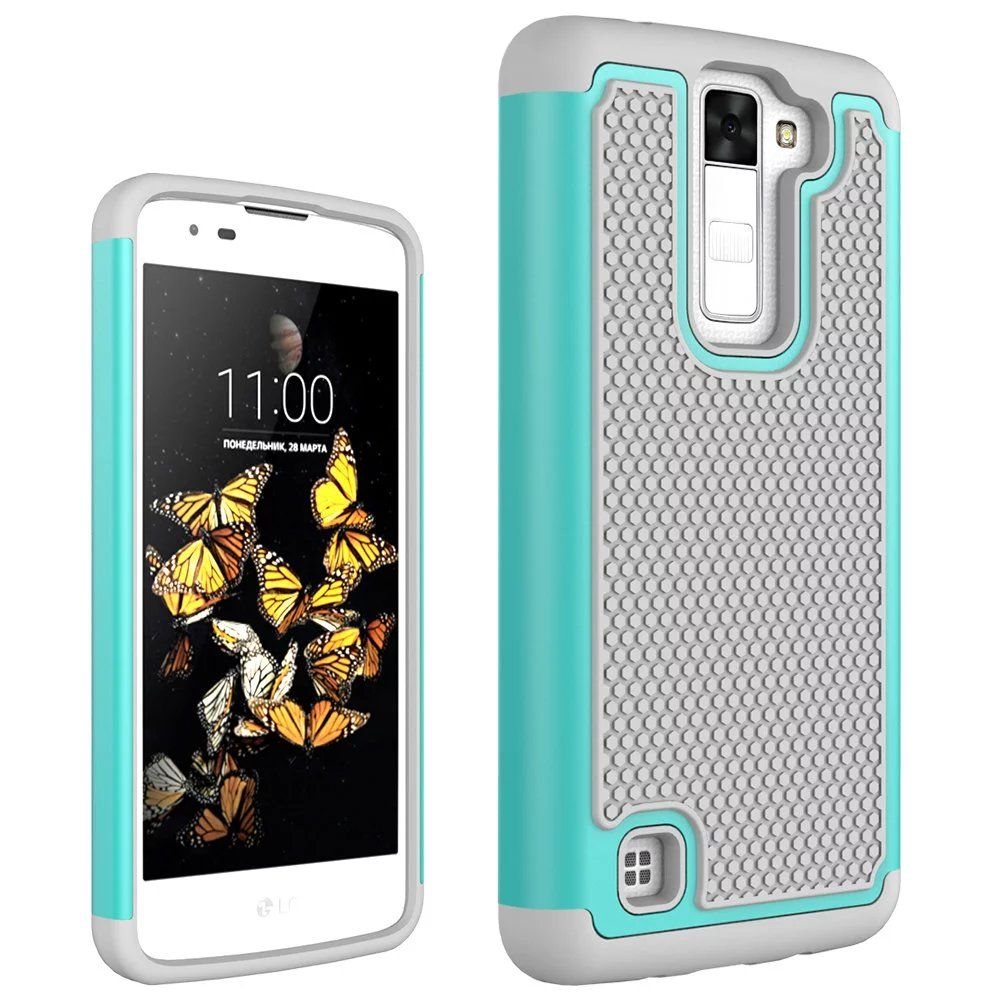 Quality Football lines Armor Shockproof Phone Case Cover Hybrid Silicone  Fundas Carcasa Coque For LG K8 642cd880984f