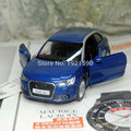Brand New KINGSMART 1/32 Scale Car Model Toys Germany AUDI A1 Diecast Metal Pull Back Car Model Toy For Gift/Kids