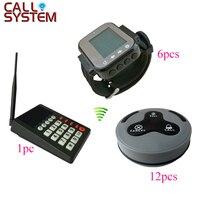 1 клавиатура 6 часы для официанта 12 кнопок Ресторан беспроводной настольный звонок системы в кухня