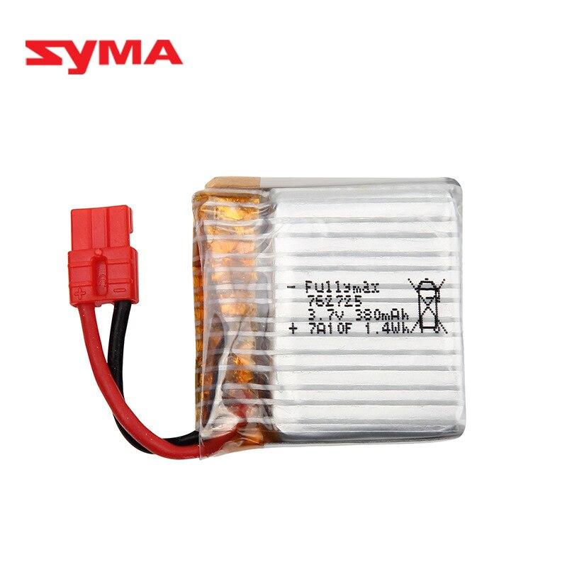 Original 3,7 V batería lipo de 380 mAh para SYMA X21 X21W X26 Quadcopter de piezas de repuesto para helicóptero de Control remoto accesorios 762725