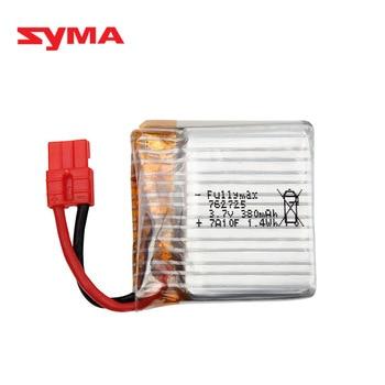 Original 3,7 V batería lipo de 380mAh para SYMA X21 X21W X26 piezas de repuesto de cuadricóptero Helicóptero De Control Remoto accesorios 762725