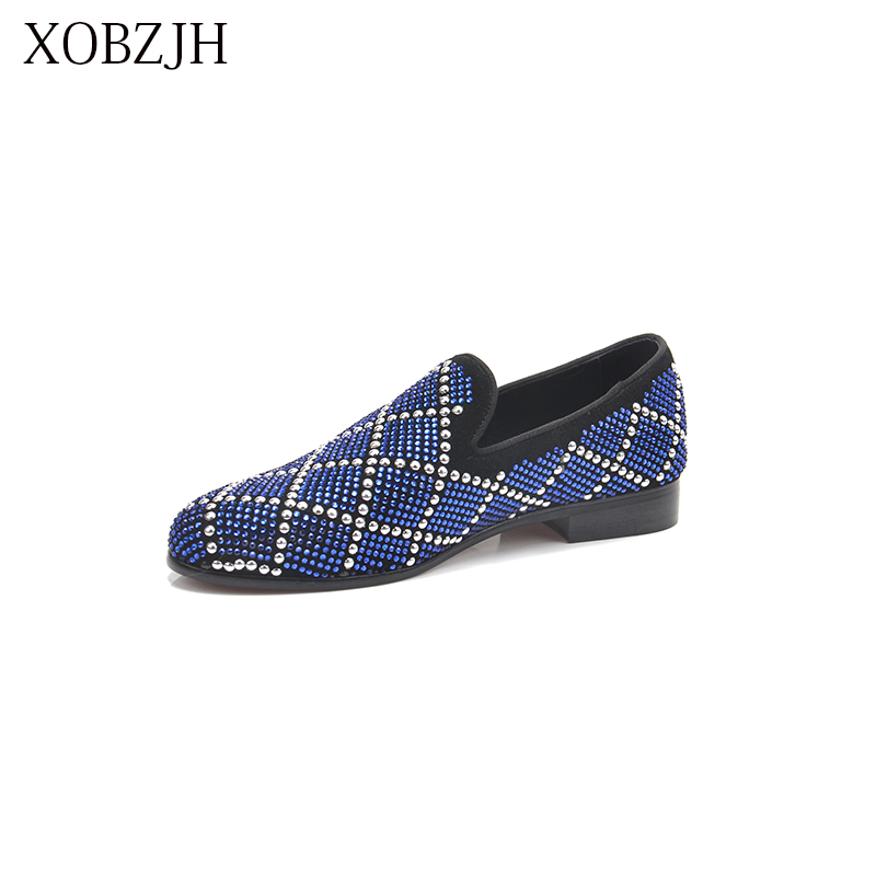 XOBZJH 2019 New Men Shoes Breathable Leather Loafers Wedding Shoes For Men Driving Moccasins Comfortable Slip On Shoes Big Size in Men 39 s Casual Shoes from Shoes