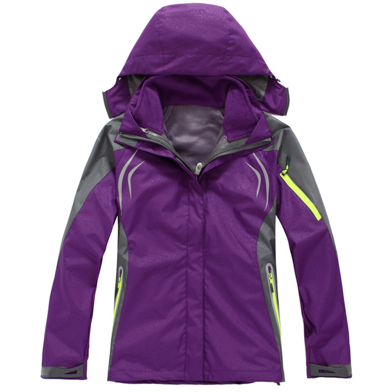 Women Winter Outdoor Ski Softshell Jacket Waterproof Windproof Thermal Coats Outdoor Mountaineering Camping & Hiking Jacket