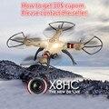 Syma X8HC drone con cámara 2.4 Ghz 6-Axis Gyro RC Drone Profesional 50 cm Gran Quadcopter Helicóptero vs mjx x101 x8w dron